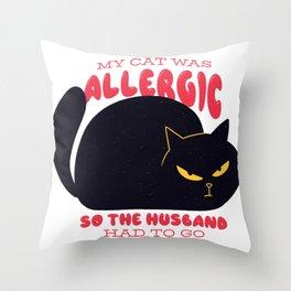 Cat Allergic Throw Pillow