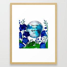 Inspirational Floral Artwork Framed Art Print