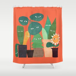 The plants are watching (paranoidos maximucho) Shower Curtain