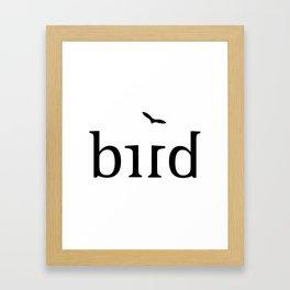 BIRD ambigram Framed Art Print