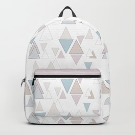 Geometric pattern , pastel triangles Backpack