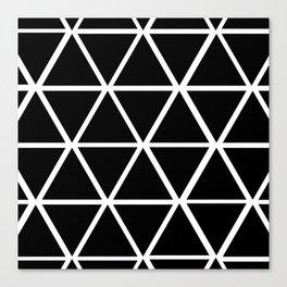 BLACK & WHITE TRIANGLES 2 Canvas Print