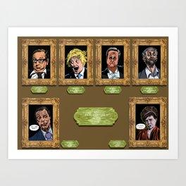 EU Referendum 2016 Commemorative Portraits - Full Suite Art Print