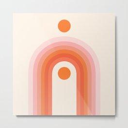 Abstraction_NEW_SUN_RAINBOW_POP_ART_Minimalism_016AA Metal Print