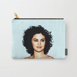 Sel Gomez - Celebrity Art (Oil Paint Art) Carry-All Pouch