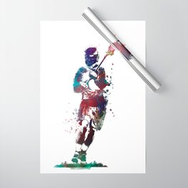 Lacrosse player art 2 Wrapping Paper