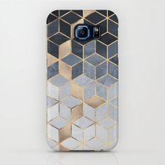 Soft Blue Gradient Cubes Slim Case Galaxy S7
