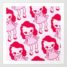 Kawaii pattern, kawaii character,cute pattern Art Print