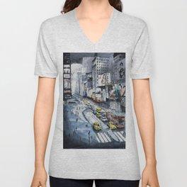 Time square - New York City Unisex V-Neck