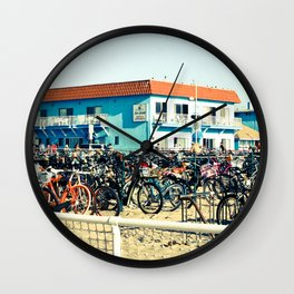 Bicycle Parking Lot Wall Clock