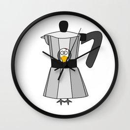 Eglantine la Poule (the hen) disguised as a coffee maker Wall Clock
