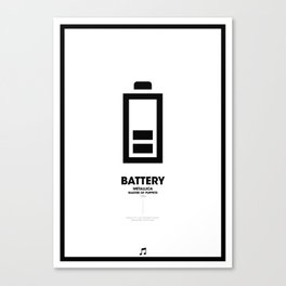 Battery Canvas Print