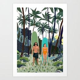 Surfs Up In The Tropics Art Print