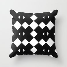 Branting Black & White Pattern Throw Pillow