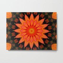 Kaleidoskop Blume Metal Print