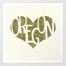 I Love Oregon Art Print