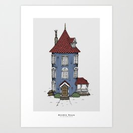 Moomin House Art Print