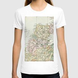Scotland Vintage Map T-shirt