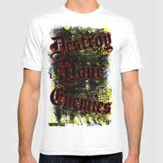 Destroy your enemies Mens Fitted Tee MEDIUM White