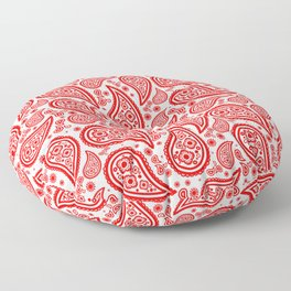 Paisley (Red & White Pattern) Floor Pillow