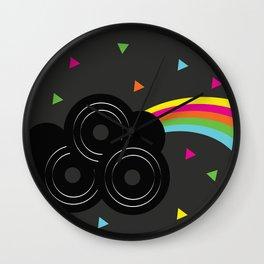 Prism Rainbow Geometric Records Wall Clock