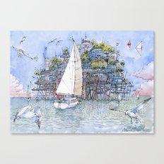 La Citta' sul mare Canvas Print
