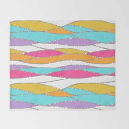 Tropicana Waves Throw Blanket