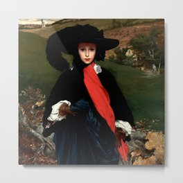 "Frederic Leighton ""Portrait of May Sartoris"" Metal Print"