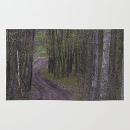 Winding Road in the Woods Rug