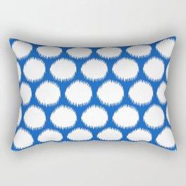 Sapphire Asian Moods Ikat Dots Rectangular Pillow