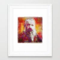 monet Framed Art Prints featuring Claude Monet by Steve W Schwartz Art