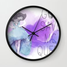 God Save McQueen Wall Clock