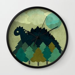 BLUE DINO Wall Clock