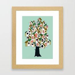 Bird houses Framed Art Print