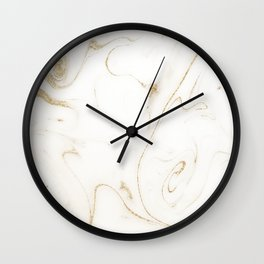 Elegant gold and white marble image Wall Clock