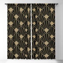 Black And Gold Art Deco Design Blackout Curtain