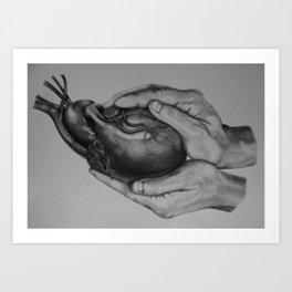 He Holds You Art Print