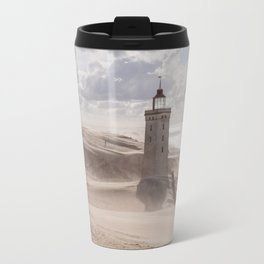 Sandstorm at the lighthouse Travel Mug