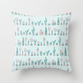 Boho cactus Throw Pillow
