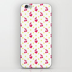 Dots and cherries iPhone Skin
