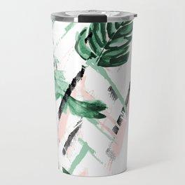 Tropical paint texture Travel Mug