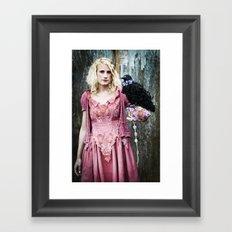 Talk to the bird Framed Art Print