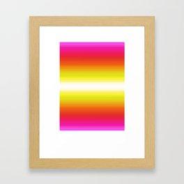 Color Gradient Poster Framed Art Print