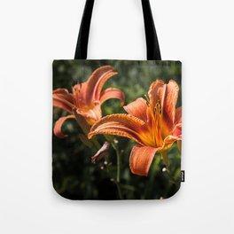 Orange Yellow Fire Lily Tote Bag