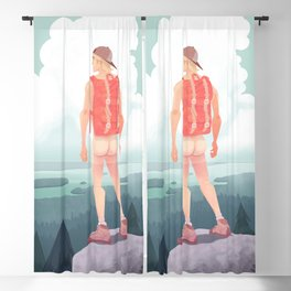 Feel The Breeze Blackout Curtain