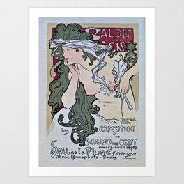 March April 1896 20th Salon des 100 Art Expo Paris France Art Print