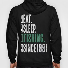 Fisher Eat Sleep Fishing Since 1998 Angler Gift Hoody