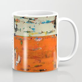 Parakeet Blue Yellow Abstract Art Coffee Mug