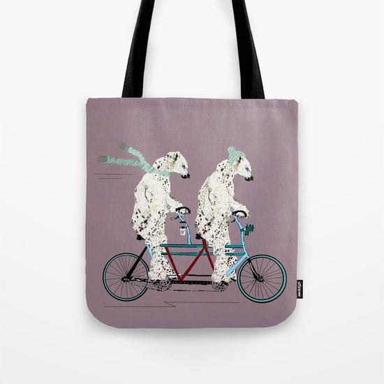 polar bears lets tandem Tote Bag