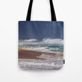 Stormy Sunset Beach Tote Bag